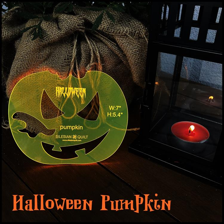 Halloween Kürbis Applikation