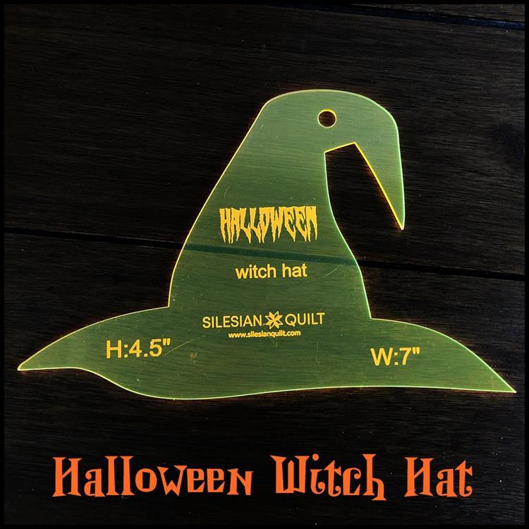 Halloween Hexenhut Applikation
