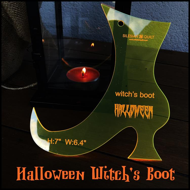 Halloween Witch's Boot applique
