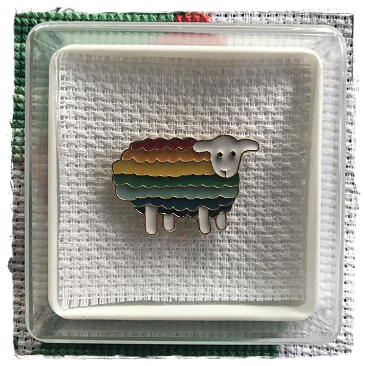 Magnetic Needle Minder Rainbow Sheep