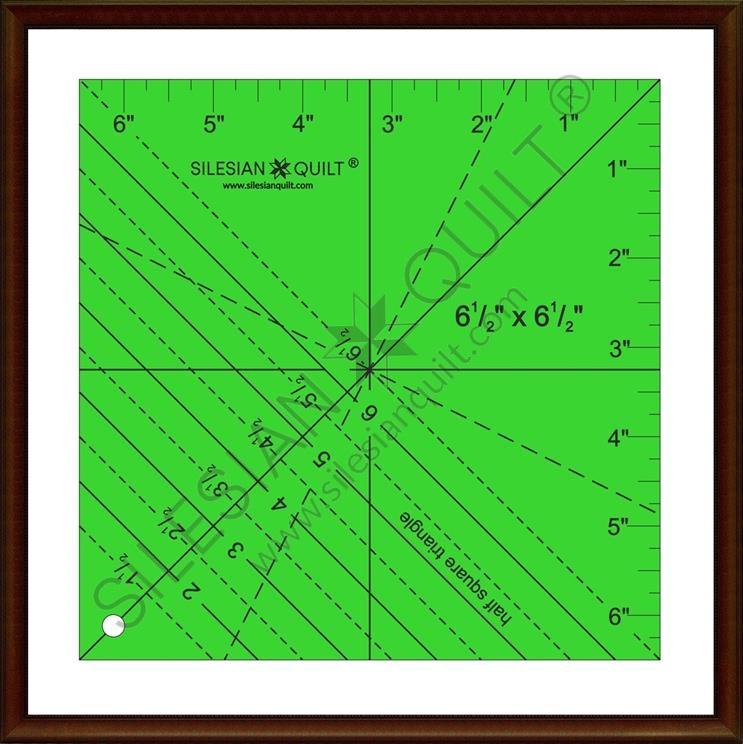 Half Square Triangle 6.5 inches