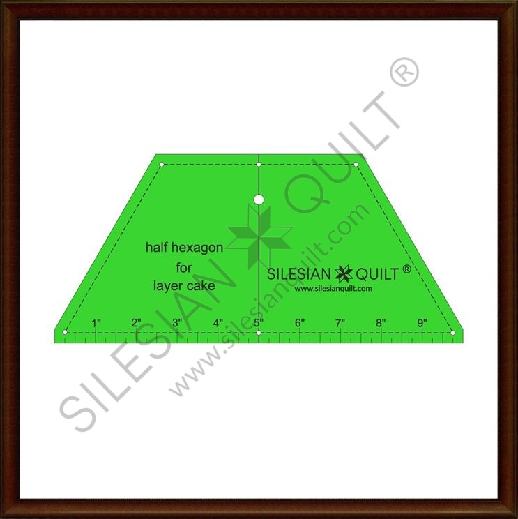 Halfhexagon for Layer Cake