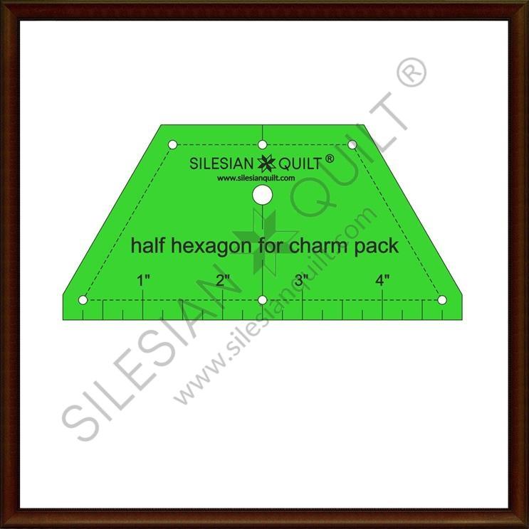 Halfhexagon for Charm Pack