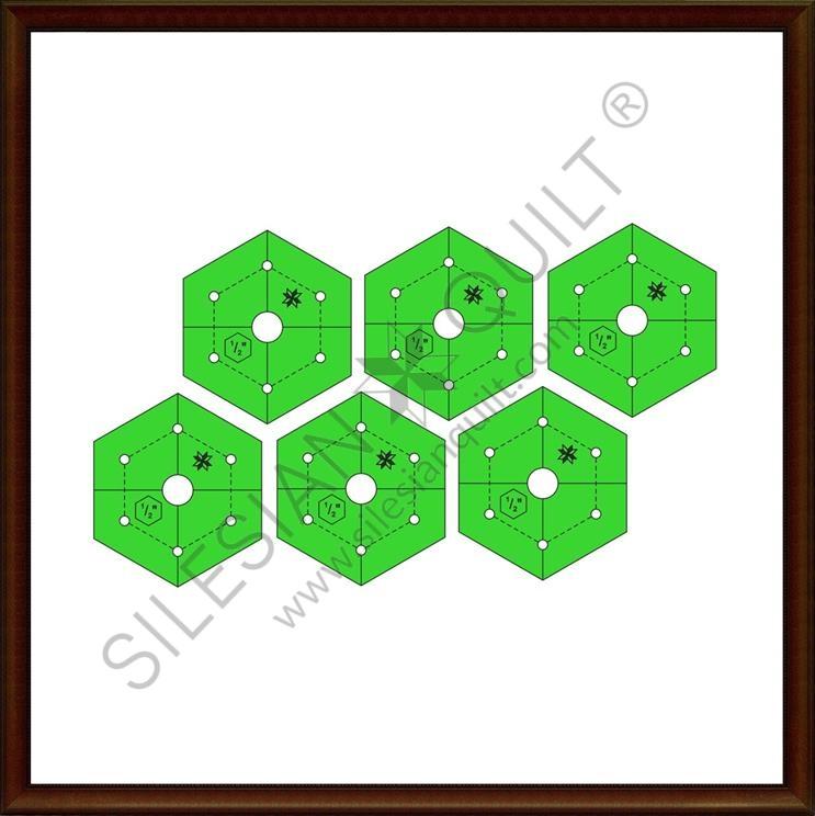 Hexagon 0.50 inches - 6 pcs
