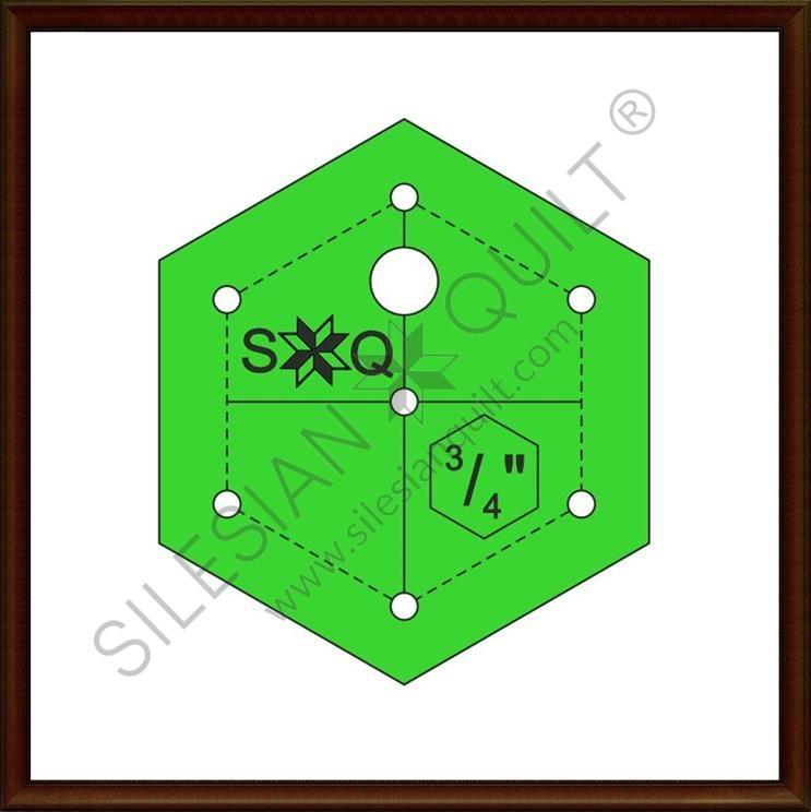 Hexagon 0.75 inches