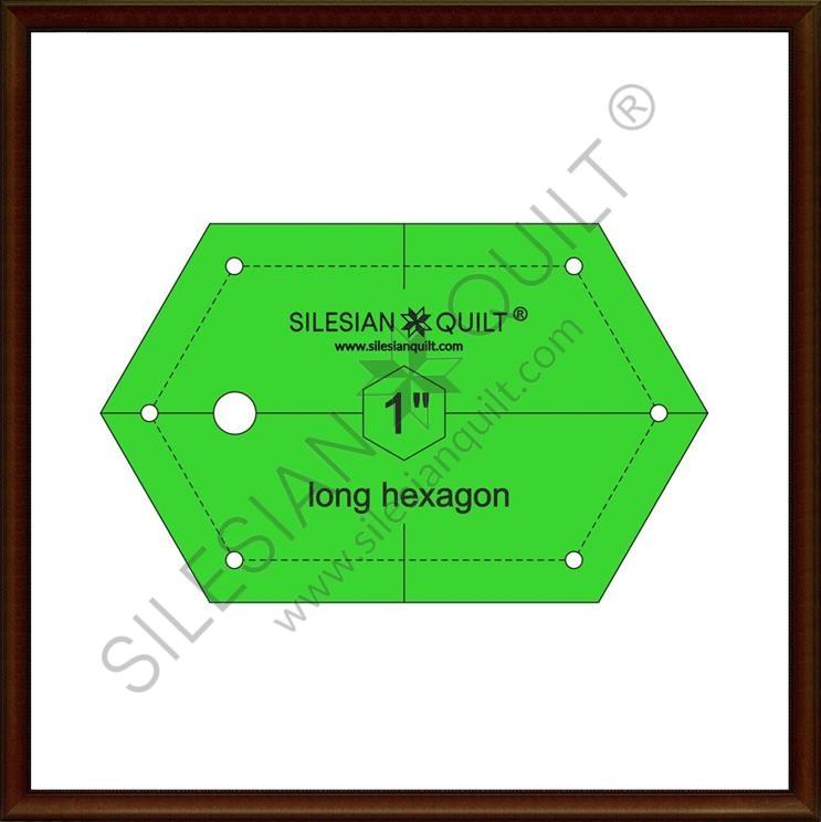 Long Hexagon 1 inch