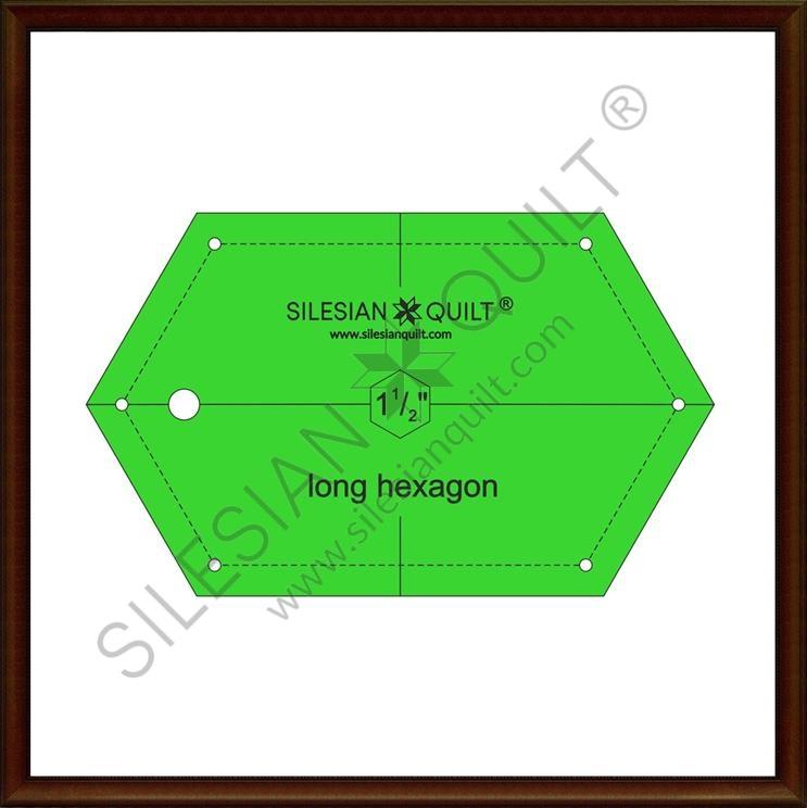Long Hexagon 1.5 inches