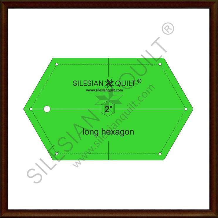 Long Hexagon 2 inches